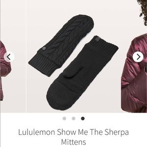 lululemon athletica Other - KNIT FINGERLESS MITTENS